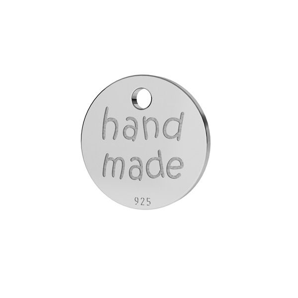 Round end cap, hand made, sterling silver 925, LKM-2165 - 05