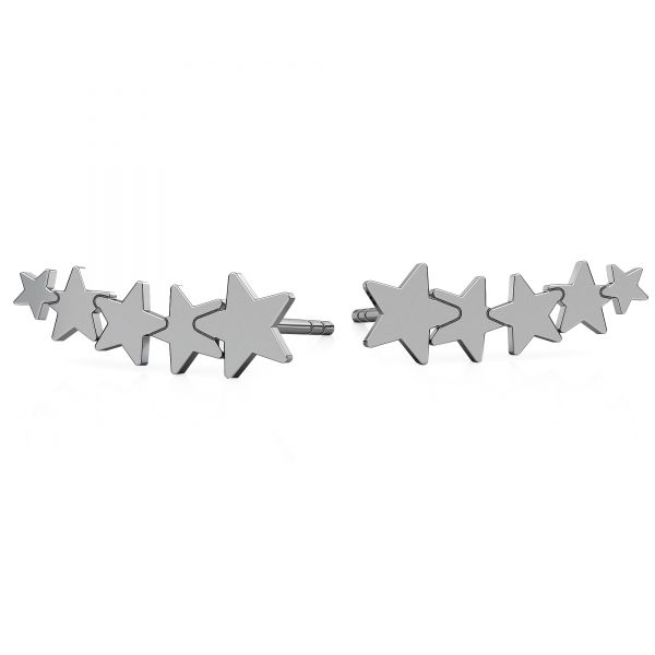 Cloud earrings, sterling silver 925, LK-0617 KLS - 0,50