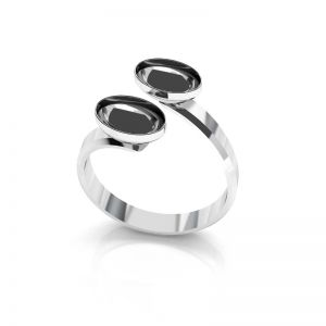 Sterling silver ring Swarovski base, OKSV 4122 MM  8,00 DOUBLE RING