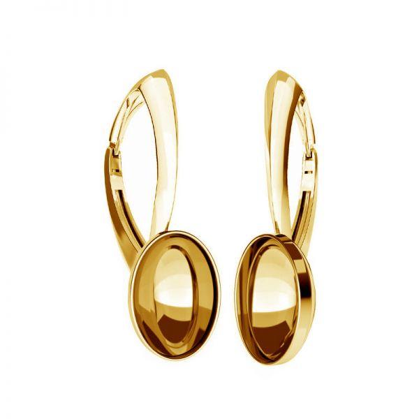 Sterling silver leverback earrings Swarovski base, OKSV 4120 MM  8,00 BA1