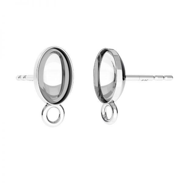 Sterling silver earrings Swarovski base, OKSV 4122 MM  8,00 KLS CON1