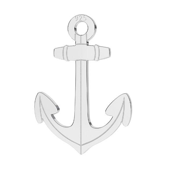 Anchor pendant, sterling silver, LKM-2254 - 0,50