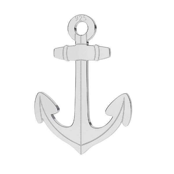 Anchor pendant, sterling silver, LKM-2254 - 0,50
