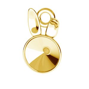 Bunny pendant base for Swarovski Rivoli 6 mm, sterling silver, ODL-00584 (1122 SS 29)