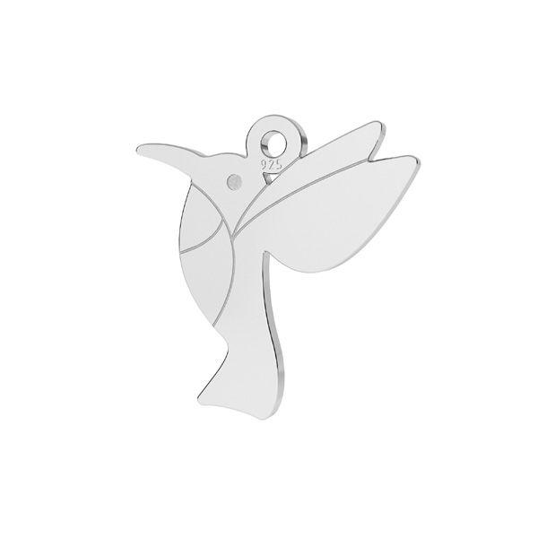 Hummingbird pendant, sterling silver, LKM-2266 - 0,50