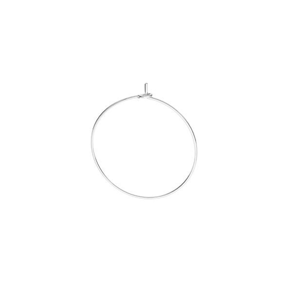 Round ear wire, sterling silver, BZ 14