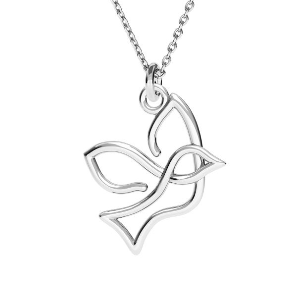 Flying bird pendant, sterling silver 925, ODL-00618