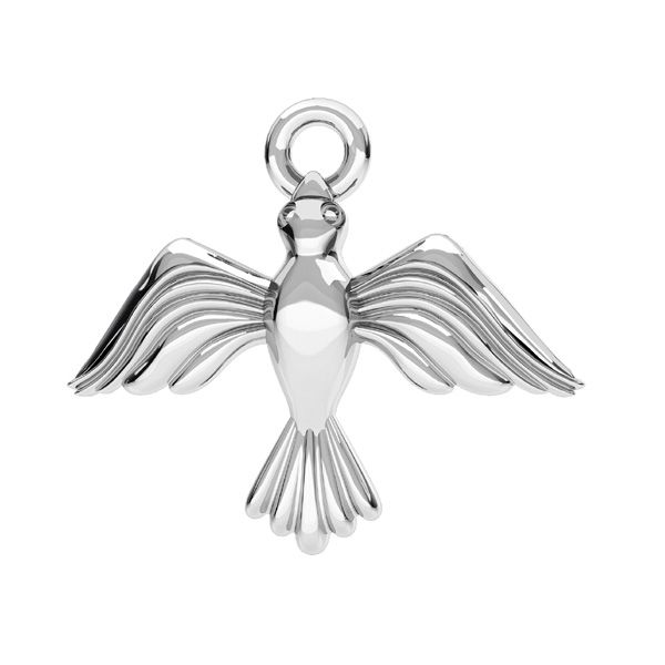 Flying bird pendant, sterling silver 925, ODL-00608