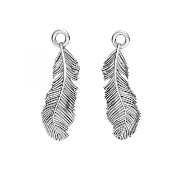 Feather pendant, silver 925, ODL-00622