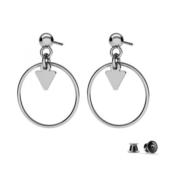 Moon mini pendant, sterling silver, LKM-2180 - 0,50