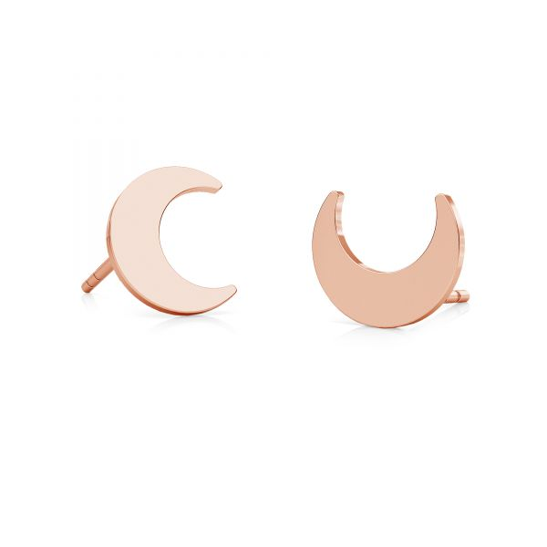 Moon earrings, sterling silver 925, LK-2241 KLS - 0,50