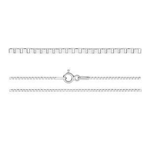 KV 015 4L (45 cm), venetian box chain sterling silver