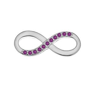 Infinity sign with Swarovski Crystals - Infinity 72