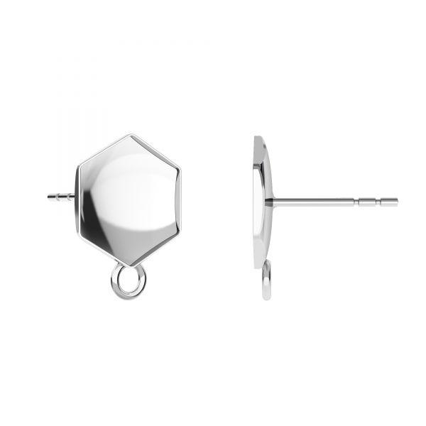 Earrings setting for Hexagon*sterling silver 925*OKSV 4683 10MM KLS CON1