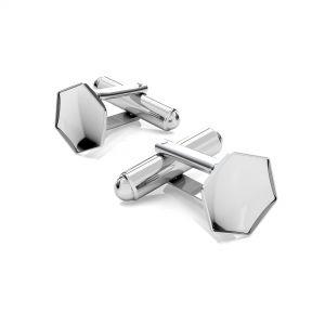 Universal ring for Hexagon*sterling silver 925*OKSV 4683 10MM U-RING