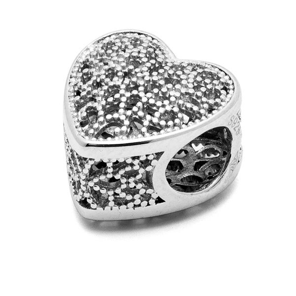 Heart beads*sterling silver 925*BDS-00002