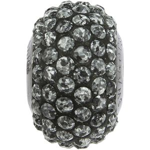 84501 BeCharmed Pavé Ceramics Bead - Marbled Black