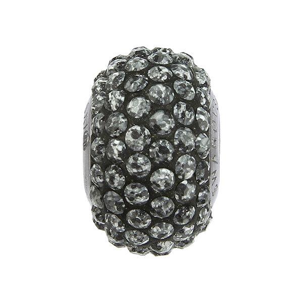 84501 BeCharmed Pavé Ceramics Bead - Marbled Black