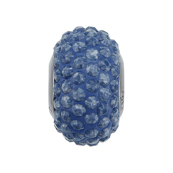 84501 BeCharmed Pavé Ceramics Bead - Marbled Blue