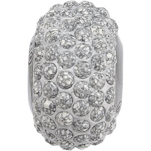 84501 BeCharmed Pavé Ceramics Bead - Marbled Light Grey