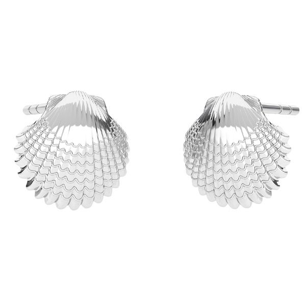 Shell earrings, silver 925, ODL-00664 KLS