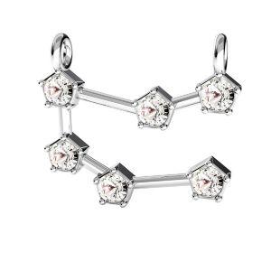 Gemini zodiac pendant with Swarovski Crystals*sterling silver 925*ODL-00650