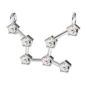 Virgo zodiac pendant with Swarovski Crystals*sterling silver 925*ODL-00654