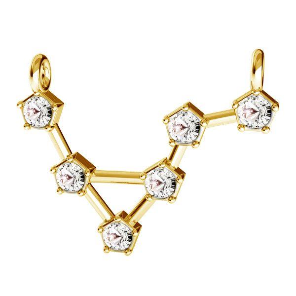 Libra zodiac pendant with Swarovski Crystals*sterling silver 925*ODL-00657