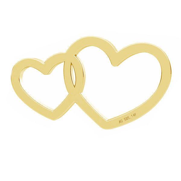 Round tag pendant gold 14K  LKZ-50001 - 0,30 mm