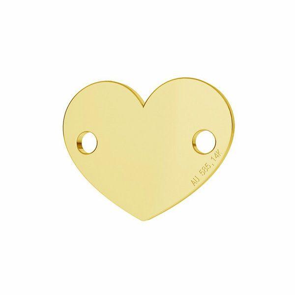 Heart tag pendant gold 14K LKZ-00462 - 0,30 mm