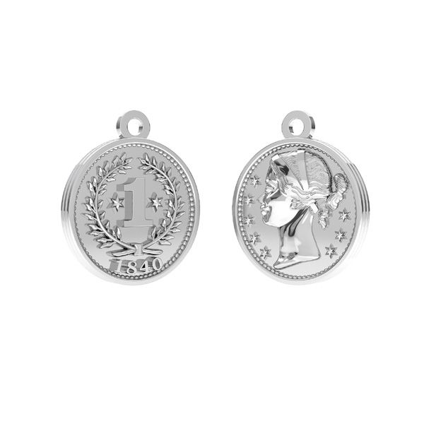 Chinese coin, pendant silver 925, ODL-00012