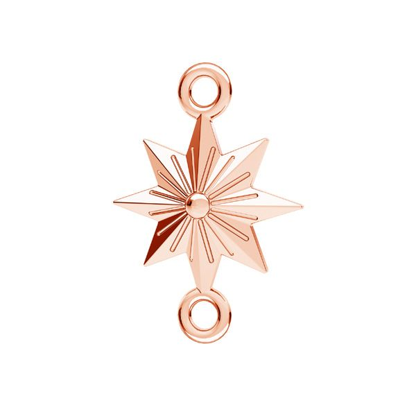 Star pendant connector, sterling silver, ODL-00638 12x17,1 mm