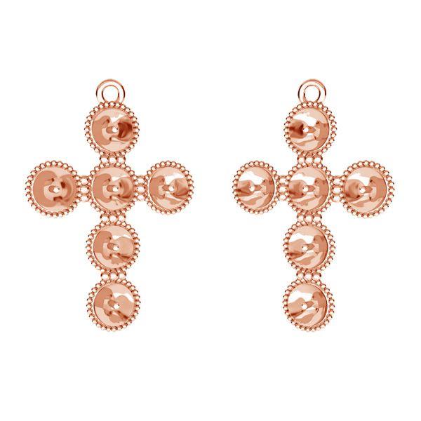 Cross pendant base for Swarovski pearls 6 mm*sterling silver*ODL-00666 20,5x29,5 mm (5818 MM 6)