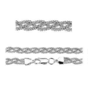 Coreana bracelet chain*sterling silver 925*PLE CORBD 1,8 3P (18 cm)