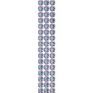 40001/003 012 001AB - Crystal Mesh Standard 3 rows, Crystal AB