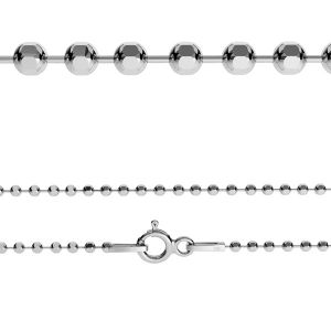 CPLD 1,0 (45-60 cm), sterling silver chain ball 1,0 mm