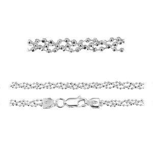 Ball chain*sterling silver 925*PLE CPLD 1,2 3P (45 cm)