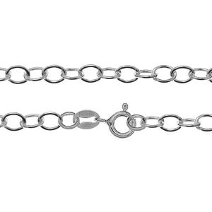 Anchor chain for celebrity necklace*sterling silver 925*A 050 (40 cm)