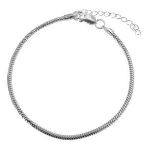 Bracelet, beads base*sterling silver 925*HAND BASE CSTD 2,4 (18 + 4 cm)
