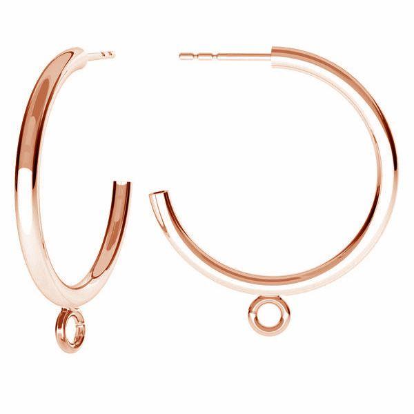 Semicircular earrings, sterling silver 925, KL-240 KW 27x31 mm