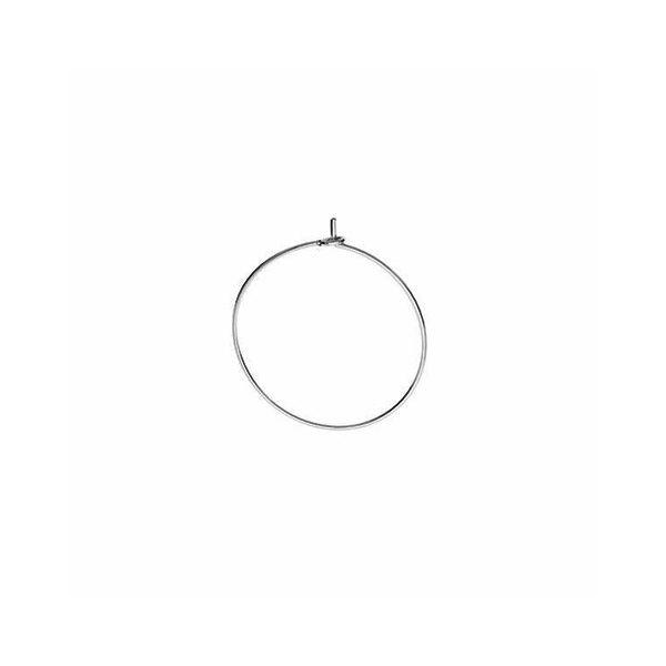 Round ear wire, sterling silver, BZ 14