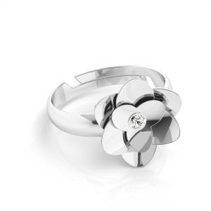 Rope ring, sterling silver 925, ODL-00624