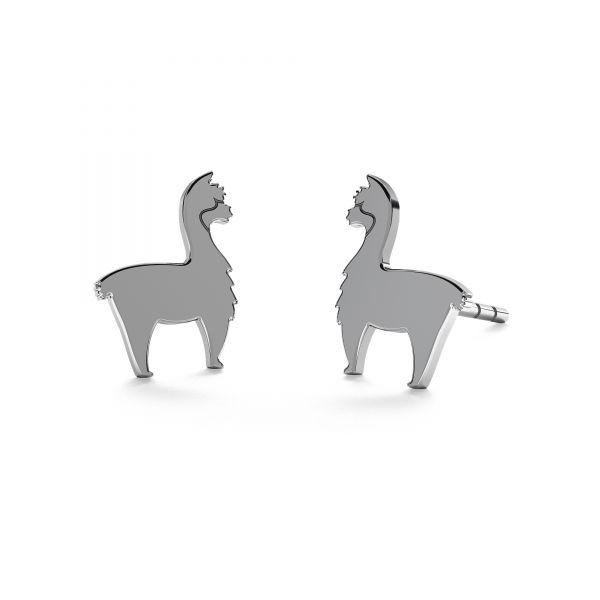 Alpaca earrings*sterling silver 925*KLS KLS LKM-2368 - 0,50 6,6x9 mm