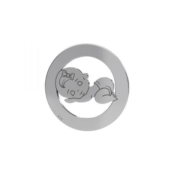 Child pendant - boy*sterling silver 925*LKM-2361 - 0,50 17,5 mm