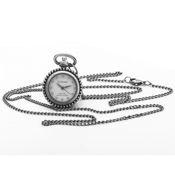 NECKLACE PENDANT WATCH WITH SWAROVSKI CRYSTALS - 646
