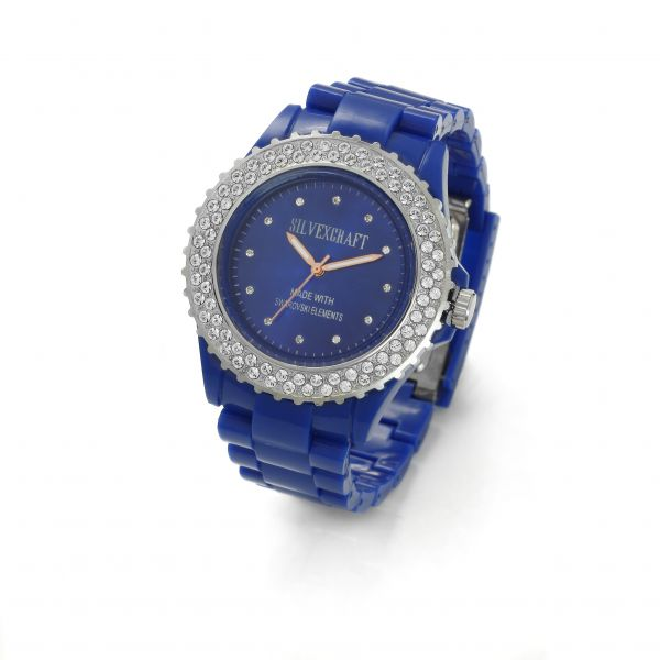 BLUE MONTRE WATCH BRACELET WITH SWAROVSKI - MODEL 443