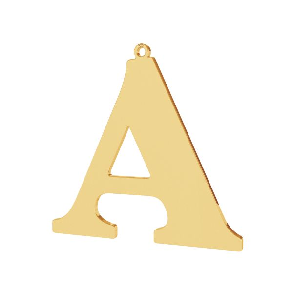 Pendant - big letter A*sterling silver 925*LKM-2488 - 0,60 38,7x39,9 mm