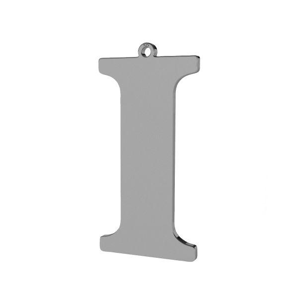 Pendant - big letter I*sterling silver 925*LKM-2496 - 0,60 18,7x38,2 mm