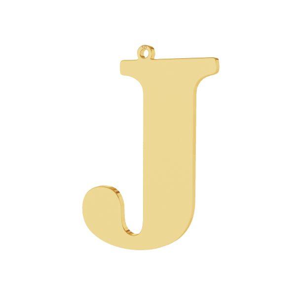 Pendant - big letter J*sterling silver 925*LKM-2497 - 0,60 28x38,9 mm