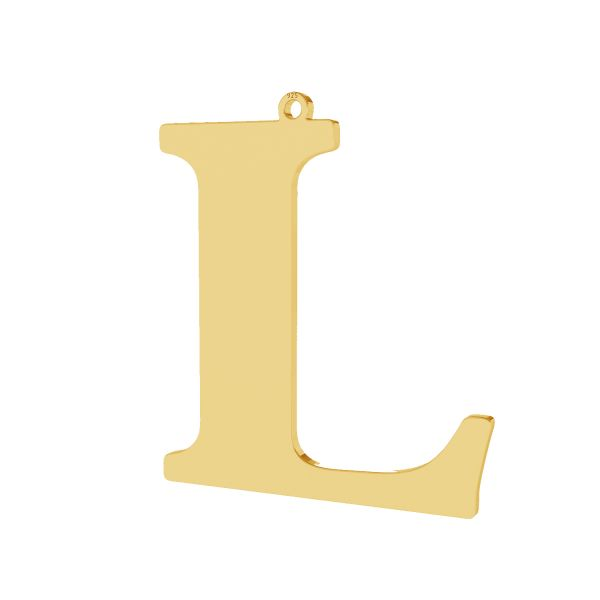 Pendant - big letter L*sterling silver 925*LKM-2499 - 0,60 33,9x38,3 mm